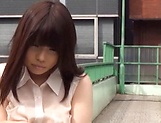 Nishikawa Rion opens her legs to get her hairy twat seen