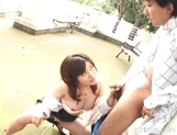 Kana Shimada Outdoor Blowjob Japanese Thrmp Likes It Outdoors picture 14