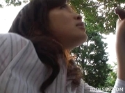 Kana Shimada Outdoor Blowjob Japanese Thrmp Likes It Outdoors