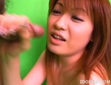 Kaomi Amamiya Blowjob Fingering Japanese Tramp USes Her Pussy And Mouth FOr Fun picture 5