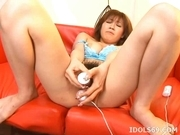 Kaomi Amamiya Masturbate Toying Asian Enjoys Showing Off Her Toys