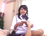 Breathtaking schoolgirl Yoko Aoyama has steaming hot sex picture 1