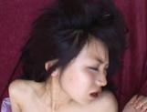 Slim bodied Japanese babe Yukine Fujishiro is fucked by two guys