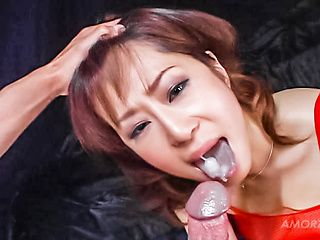 Mature woman in body stocking has great oral sex