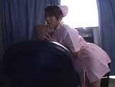 Compilation of a sexy Asian nurse Aya Sakurai giving blowjobs