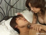 Mai Yamazaki Naughty Asian babe In Black Gets Pussy Licked picture 12