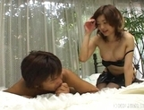 Mai Yamazaki Naughty Asian babe In Black Gets Pussy Licked picture 3