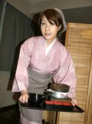 Miho Asian babe Is Modeling Her Best Kimono While Cooking