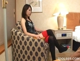 Miho Uehara Footjob Handjob Asian babe Masturbates With Her Feet picture 1