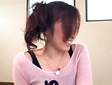 Saya Yukimi shoves huge dildos into her hairy cunt