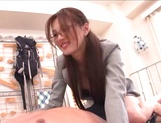 Leggy Japanese teacher Ameri Ichinose fucked hard by a horny guy