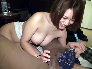 Amazing shorthaired Asian milf gets fucked hard
