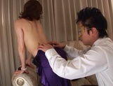 Glorious Japanese AV model, a milf with hot body gets involved into a kinky gangbang picture 12