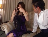 Glorious Japanese AV model, a milf with hot body gets involved into a kinky gangbang