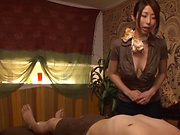 Sleazy chick enjoys giving a sensual massage