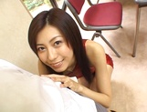 Tall Japanese AV model Noa sucks cock gets pussy fucked doggie style picture 12
