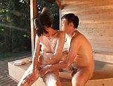 Amazing Asian babe sizzling bathtub action