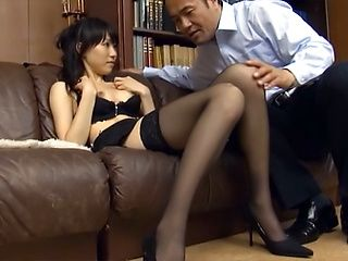 Pretty Japanese office lady Airi Mikami fucked by her horny boss