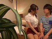 Charming Asian doll Aika riding dick expertly