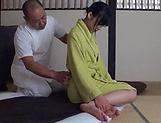 Sensual  Kasumi Okazaki fucked and tastes load picture 13