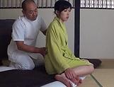 Sensual  Kasumi Okazaki fucked and tastes load picture 15