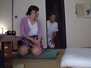 Sensual  Kasumi Okazaki fucked and tastes load