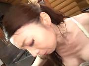 Hot cutie Takashima Heki sucks and rides properly