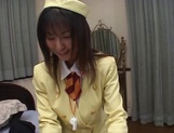 Cosplay loving stewardess JP MILF Riko Tachibana gets hardcore banging