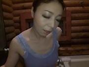 Takashima Heki showing off her blowjob skills