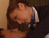 Fuyutsuki Kaede rewarded by a creamy facial indoors picture 13