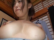 Sexy housewife in soft moans as she nailed deep