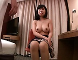 Naughty Japanese babe plays porn queen when sucking cock