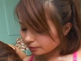 Minami Mizuhara JAV Idol Massive Cum Japanese babe Enjoys Getting Off With Her Partner