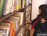 Misaki Saya Sltty Asian School Girl Masturbates In The Library picture 12