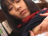 Misaki Saya Sltty Asian School Girl Masturbates In The Library