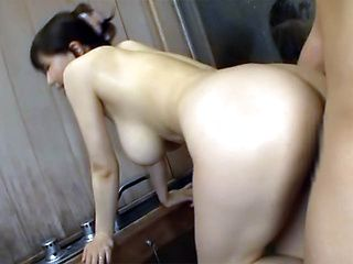 Delicious mature hottie Anri Okita is happy to give a blowjob