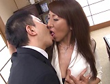 Rika Fujishita Asian mature chick gets big tits fucked picture 12
