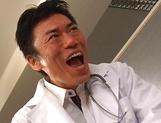 Japanese nurse Erika Kurisu blows tasty cock like a true goddess