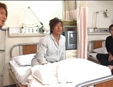 Nurse Ai Takeuchi with big tits takes good care of cock picture 11