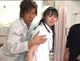 Nurse Ai Takeuchi with big tits takes good care of cock picture 13
