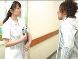 Nurse Ai Takeuchi with big tits takes good care of cock
