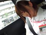 Naughty nurse Koyuru gets her wild muff drilled picture 11