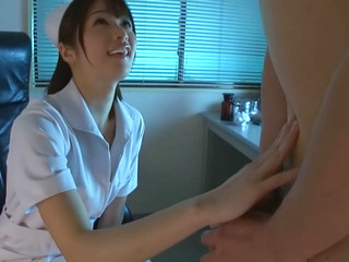 Helpful Asian nurse Nanami Kawakami licks ass and sucks hard dick