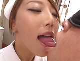 Yummy nurse gets jizz on her sweet lips picture 10