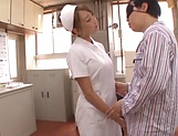 Yummy nurse gets jizz on her sweet lips picture 3