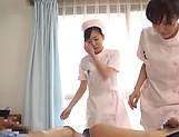 Horny nurses enjoying a delight-some fuck picture 15