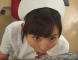Kinky night nurse Ana Ayano sucking stiff dick picture 11