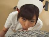 Kinky night nurse Ana Ayano sucking stiff dick picture 13