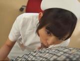 Kinky night nurse Ana Ayano sucking stiff dick picture 14