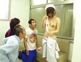 Delicious nurse Koyuru Kanon bonked in a threesome picture 12